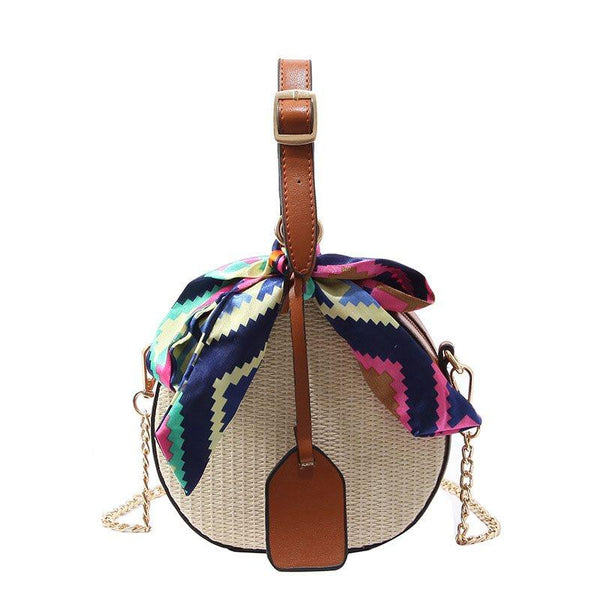 PU Knitted Korean Circular Crossbody Bags