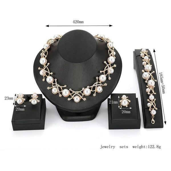 Necklace Diamante European Engagement Jewelry Sets