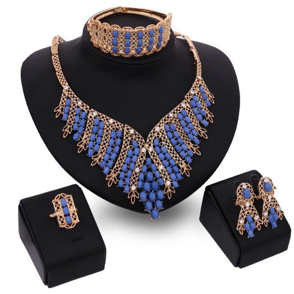 Diamante Ethnic Style Necklace Prom Jewelry Sets