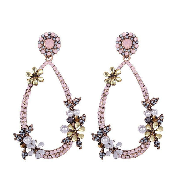Floral Alloy European Birthday Earrings