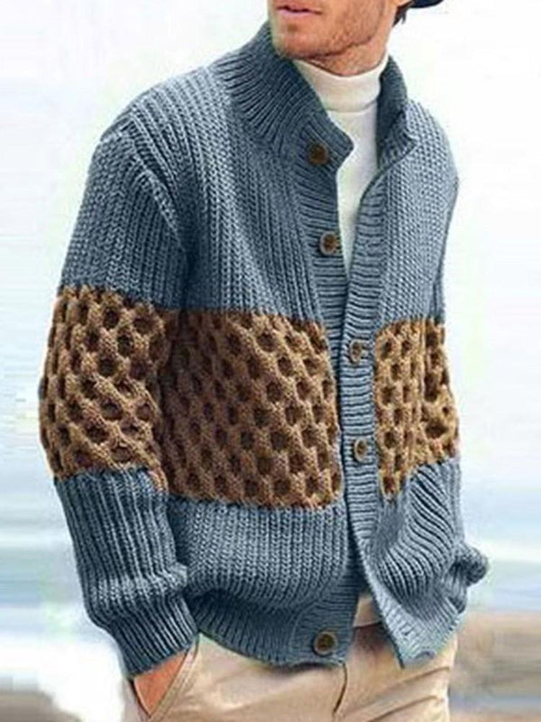 Stand Collar Standard Button Winter Loose Sweater