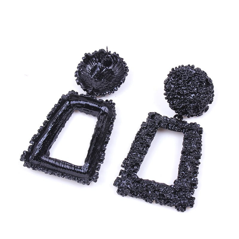 Geometric Oil Drip European Party Earrings