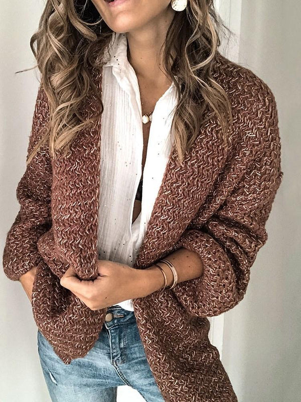 Regular Thick Wrapped Loose Long Sleeve Sweater