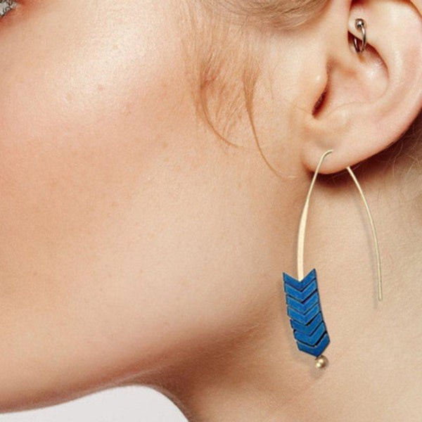 Alloy E-Plating Geometric Holiday Earrings