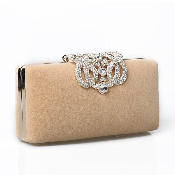 Velour Rectangle Casual Clutches & Evening Bags