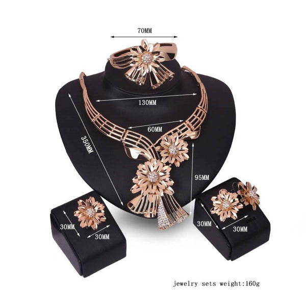 Earrings Diamante European Engagement Jewelry Sets