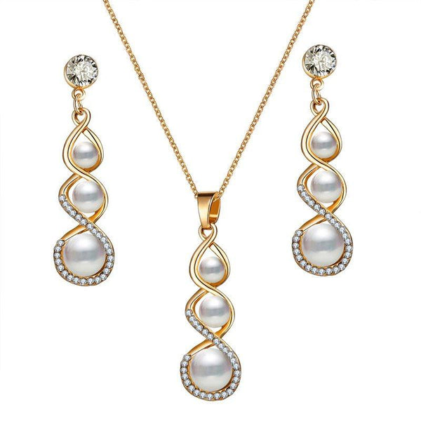 European Diamante Earrings Gift Jewelry Sets