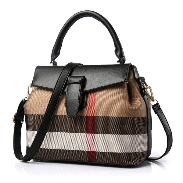 Stripe Thread PU Korean Tote Bags