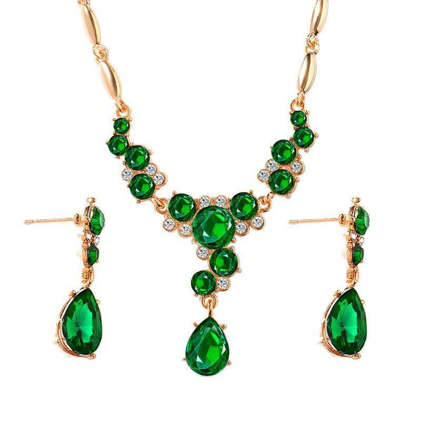 Necklace Crystal Inlaid European Gift Jewelry Sets
