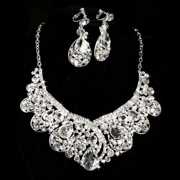 Earrings Korean Water Drop Engagement Jewelry Sets