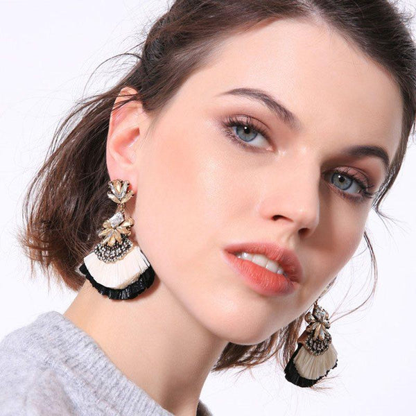 Diamante Color Block Alloy Anniversary Earrings