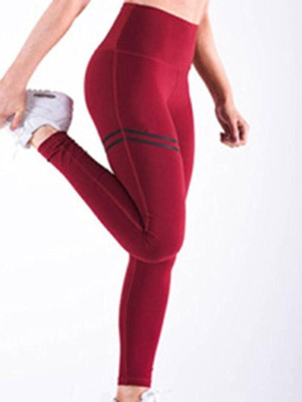Sports Stripe High Waist Leggings