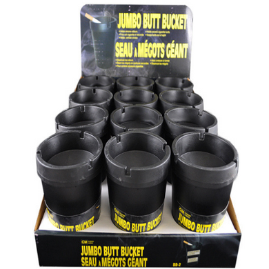 Butt Bucket Jumbo Black 12-Set Combo Pack