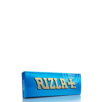 Rizla+ Single Wide Blue Rolling Papers - 100 Pack Box