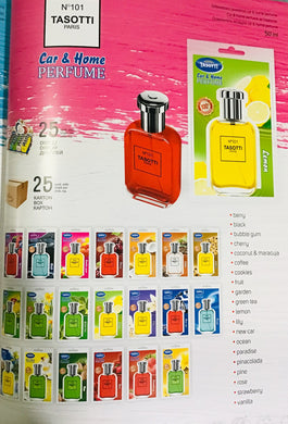 Air Freshener - Car & Home Perfume 101 (25 Pcs/Display)