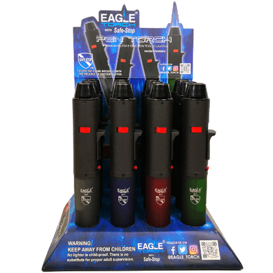Eagle Pen Butane Torch Gun - 12 Pack Display Case