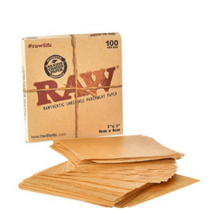 "Raw Parchment Paper 3"" x 3"" - Single 100-Sheets Pack"