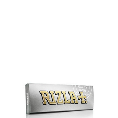 Rizla+ Single Wide Silver Rolling Papers - 100 Pack Box