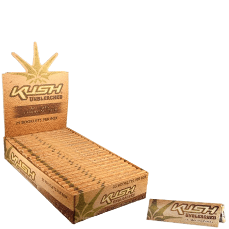 Kush Unbleached 1 1/4 Rolling Papers - 25 Pack Box