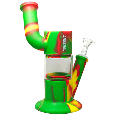 Arsenal Silicone/Glass Bong With Adjustable Mouthpiece