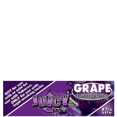 Juicy Jay's 1 1/4 Grape Flavored Papers - 24 Pack Box