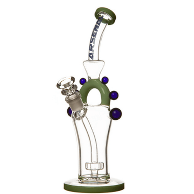 Green Arsenal Marble Décor Glass Bong