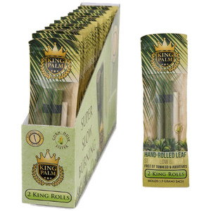 King Palm Organic Pre-Rolled Wraps - 2 King Rolls, 24 Packs