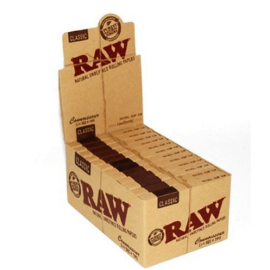 Raw Classic Connoisseur 1 1/4 Rolling Papers and Tips - 24 Pack Box