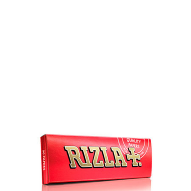 Rizla+ Single Wide Red Rolling Papers - 100 Pack Box