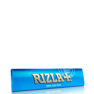 Rizla+ King Size Slim Blue Rolling Papers - 50 Pack Box