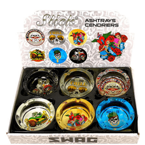 Slick Swag Glass Ashtray 6-Pack Combo Box