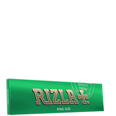 Rizla+ King Size Green Rolling Papers - 50 Pack Box