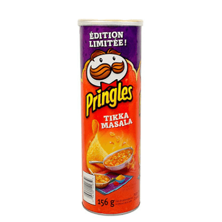 Pringles Tikka Masala Chips Container Safe Can