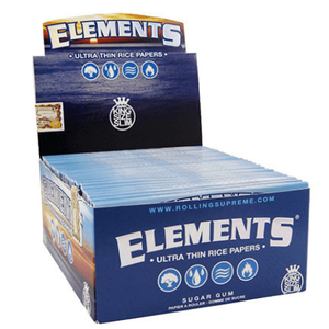 Elements Rice KS Slim Rolling Papers - 50 Pack Box