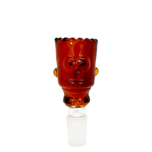 Bart Simpson 14mm Glass Bowl - Blue/ Amber Color