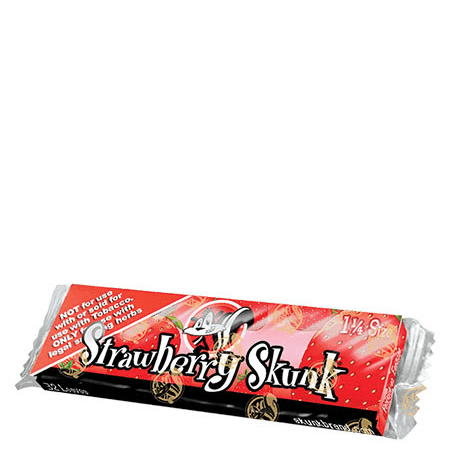 Skunk Hemp 1 1/4 Rolling Papers - 24 Pack Box (5 Flavors) - Strawberry