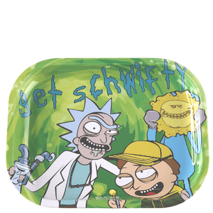 Get Schwifty 'Rick and Morty' Metal Rolling Tray (7? x 5.5?)