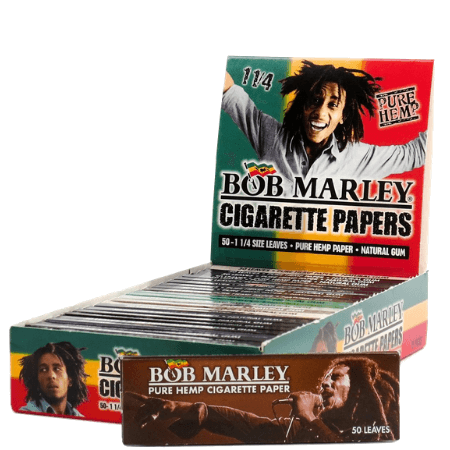 Bob Marley Pure Hemp 1 1/4 Rolling Papers - 25 Pack Box