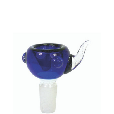 Basic 14mm Blue Glass Bowl with Handle