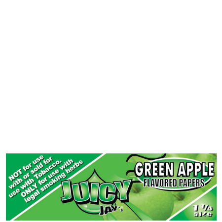 Juicy Jay's 1 1/4 Green Apple Flavored Papers - 24 Pack Box