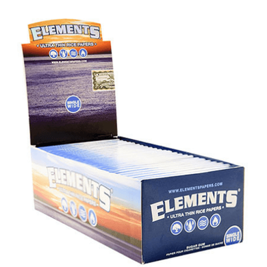 Elements Rice Single Wide Rolling Papers - 50 Pack Box
