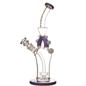 Wine Arsenal Marble Décor Glass Bong