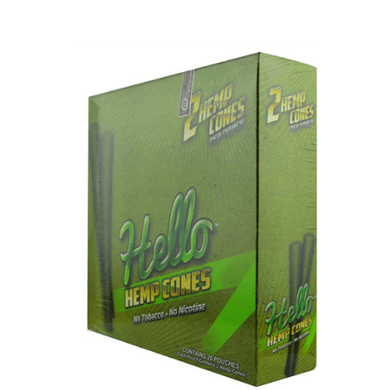 Hello Hemp Cones - 20 Pouch Display Pack