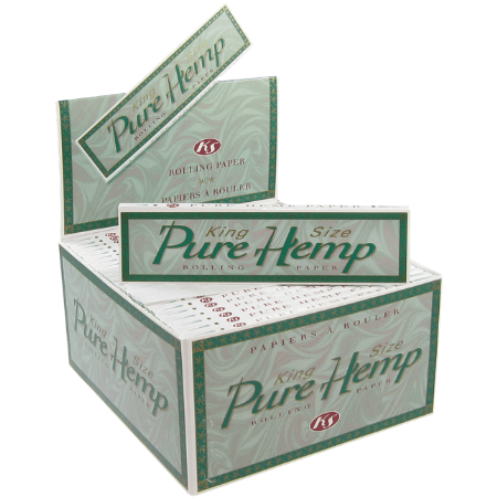 Pure Hemp Classic King Size Rolling Papers – 50 Booklets