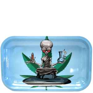 Outter Space 'High Alien' Metal Rolling Tray (10.8? x 6.8?)
