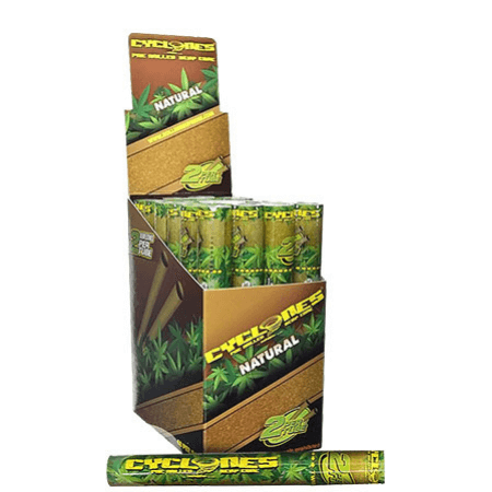 Cyclones Hemp Cones - 24 Tubes - Natural