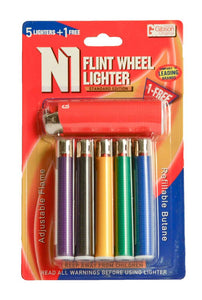 Regular Lighter (5+1) 6 pc Blister Pack