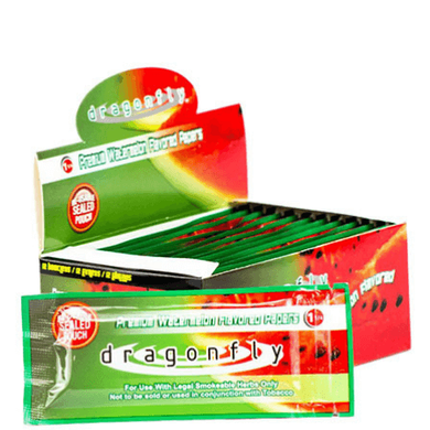 Dragonfly Rolling Papers - 12 Booklet Pack - watermelon