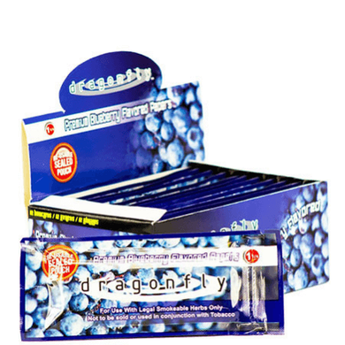 Dragonfly Rolling Papers - 12 Booklet Pack - Blueberry