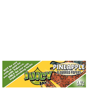 Juicy Jay's 1 1/4 Pineapple Flavored Papers - 24 Pack Box